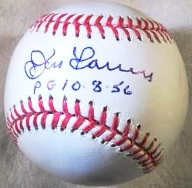 "Don Larsen Autographed MLB Baseball Inscribed ""PG 10-8-56"" - Latitude Sports Marketing"