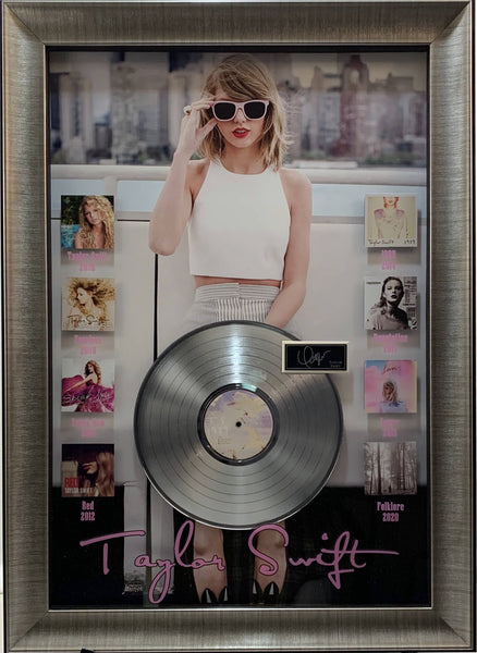 Taylor Swift Mini Album Covers with Laser Signature and an Album Framed