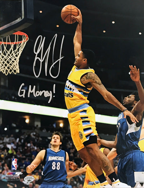 "Gary Harris Autographed 11x14 Photo Inscribed ""G Money!"""