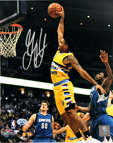 Gary Harris Autographed 8x10 Photo - Yellow Dunking
