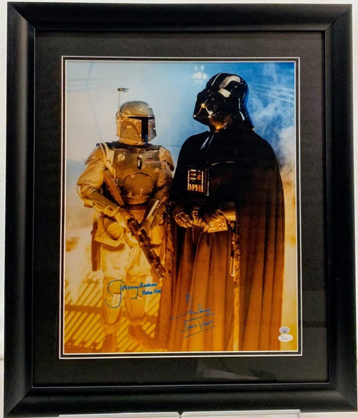 Jeremy Bulloch & David Prowse Signed 16x20 Darth Vader & Boba Fett Photo - Latitude Sports Marketing