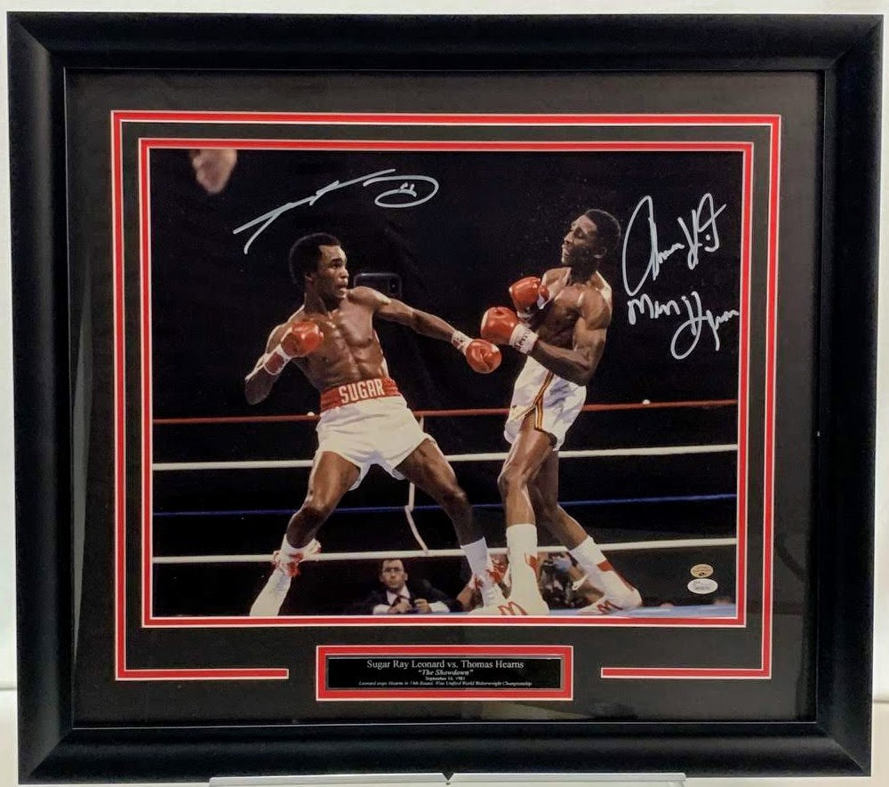 "Sugar Ray Leonard vs. Thomas Hearns ""The War"" 16x20 Photo - Latitude Sports Marketing"