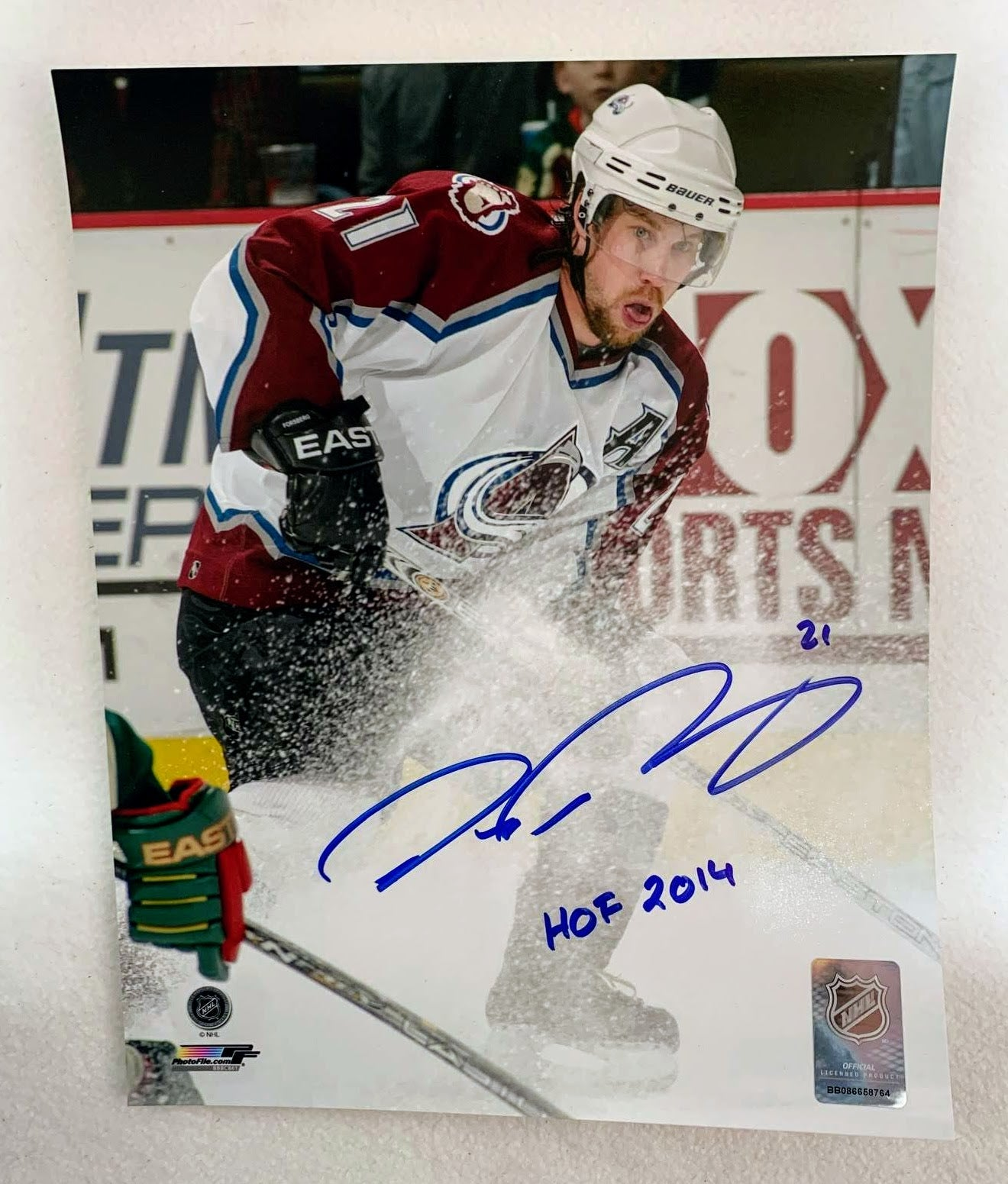 Peter Forsberg Autographed 8x10 Photo (Colorado Avalanche) LSM COA - Latitude Sports Marketing