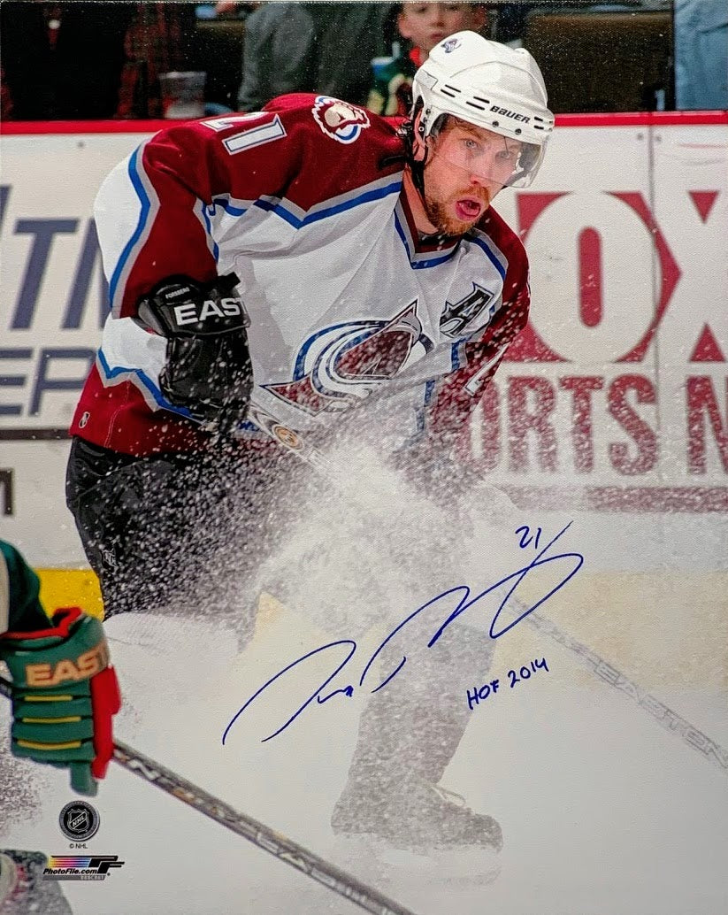 Peter Forsberg Signed Canvas w/ Inscription - Latitude Sports Marketing
