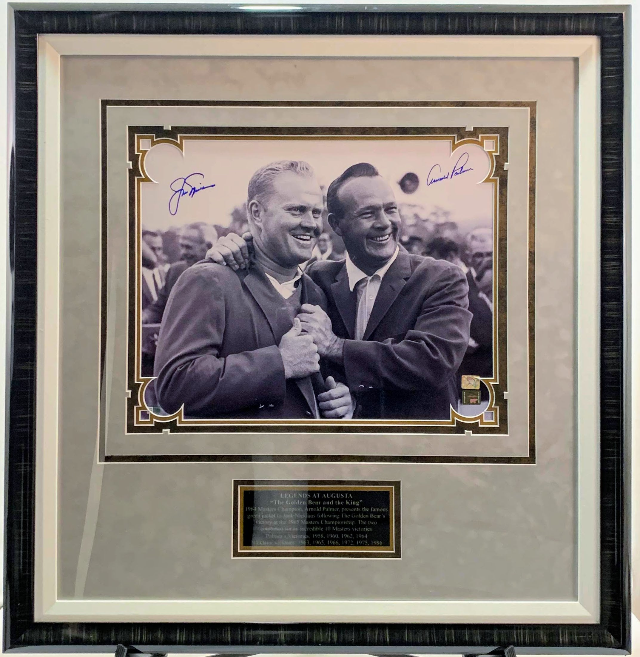 Jack Nicklaus & Arnold Palmer Signed Deluxe 16x20 Photo - Latitude Sports Marketing