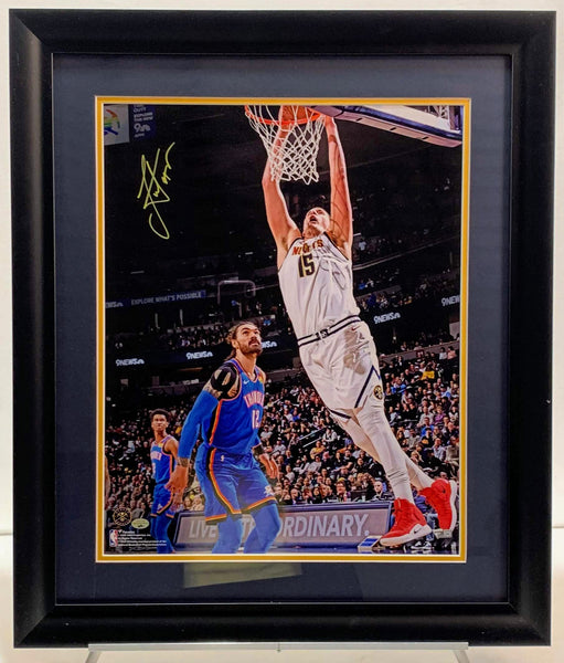Nikola Jokic Signed Framed 16x20 Photo - Latitude Sports Marketing