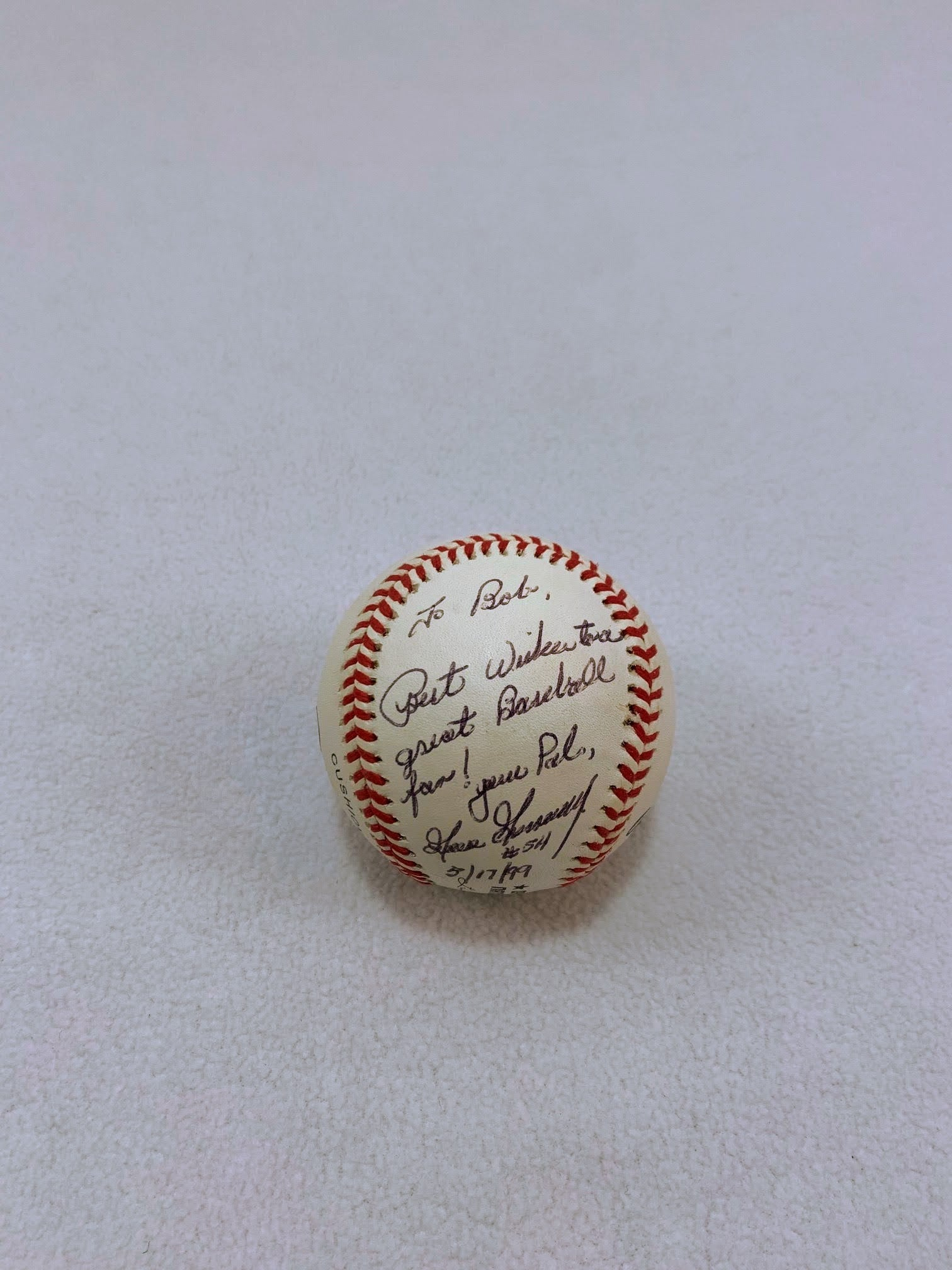 "Rich ""Goose"" Gossage Signed & Inscribed Baseball with COA Mounted Memories"
