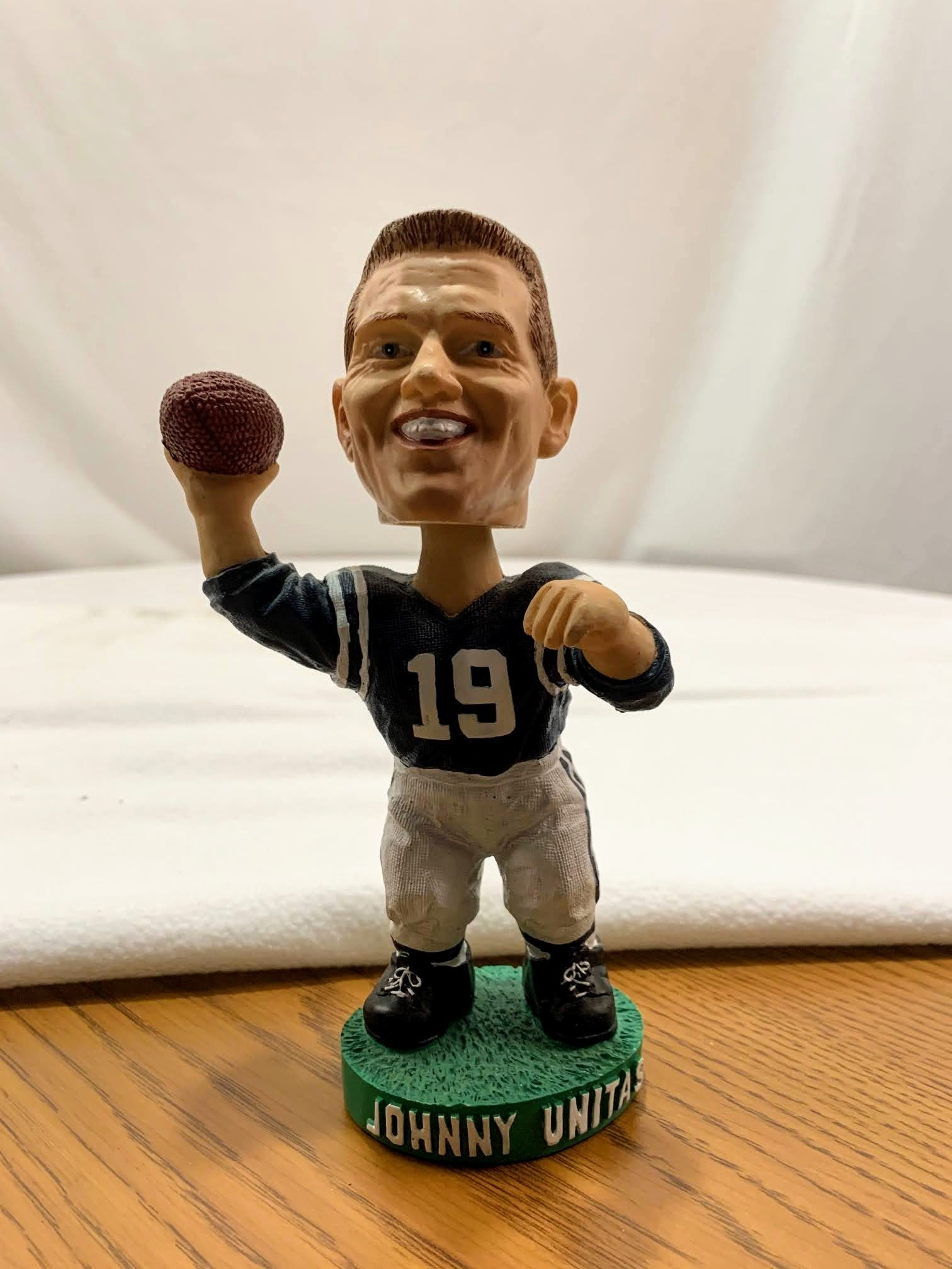 Johnny Unitas Bobble Head with COA