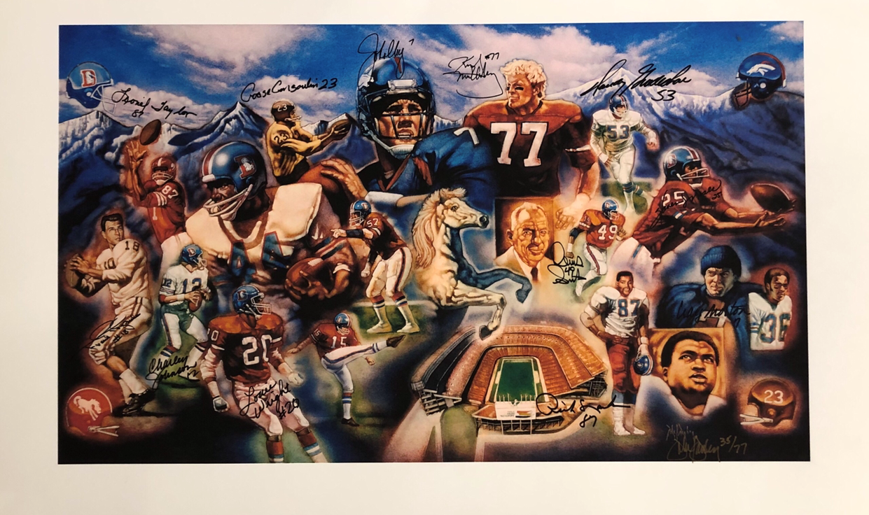 Broncos Ring of Fame Art Limited Edition LSM COA