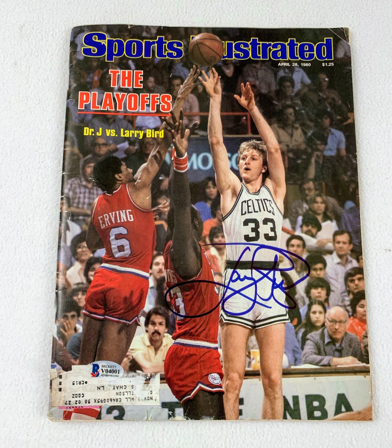 Larry Bird Autographed Sports Illustrated April 28, 1980 LSM COA BECKETT