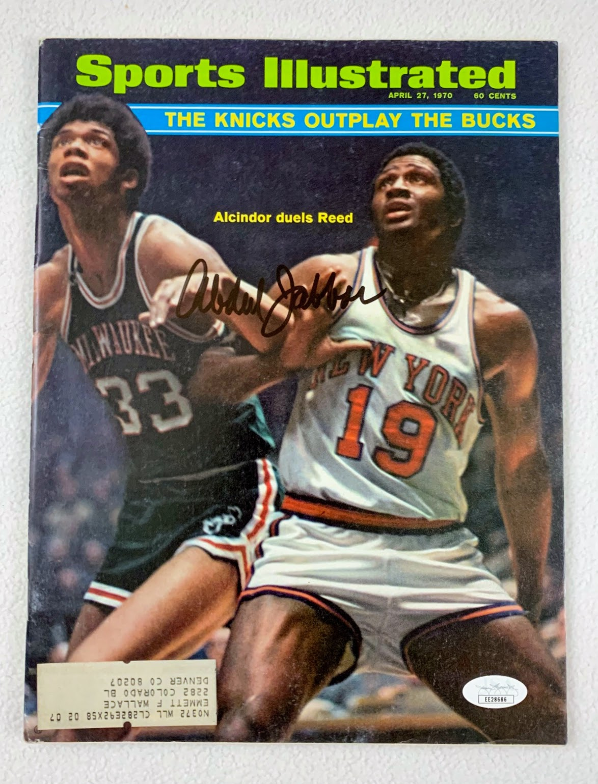 Kareem Abdul Autographed Sports Illustrated April 27, 1970 LSM JSA COA