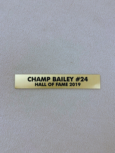Champ Bailey Nameplate