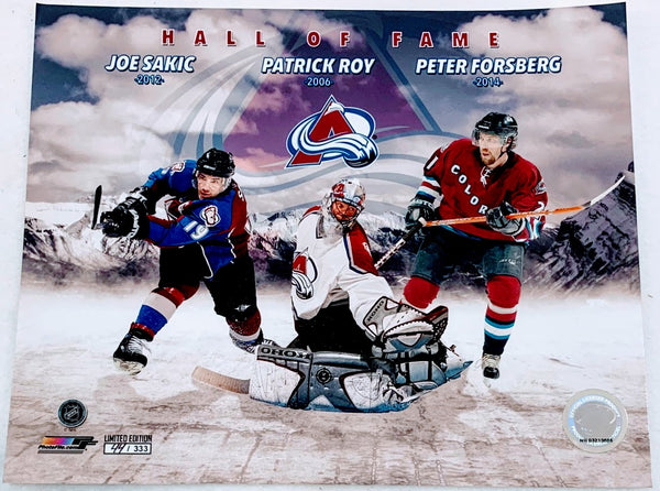 Avalanche Hall of Fame Unsigned Sakic/Roy/Forsberg Limited Edition 8x10 Photo - Latitude Sports Marketing