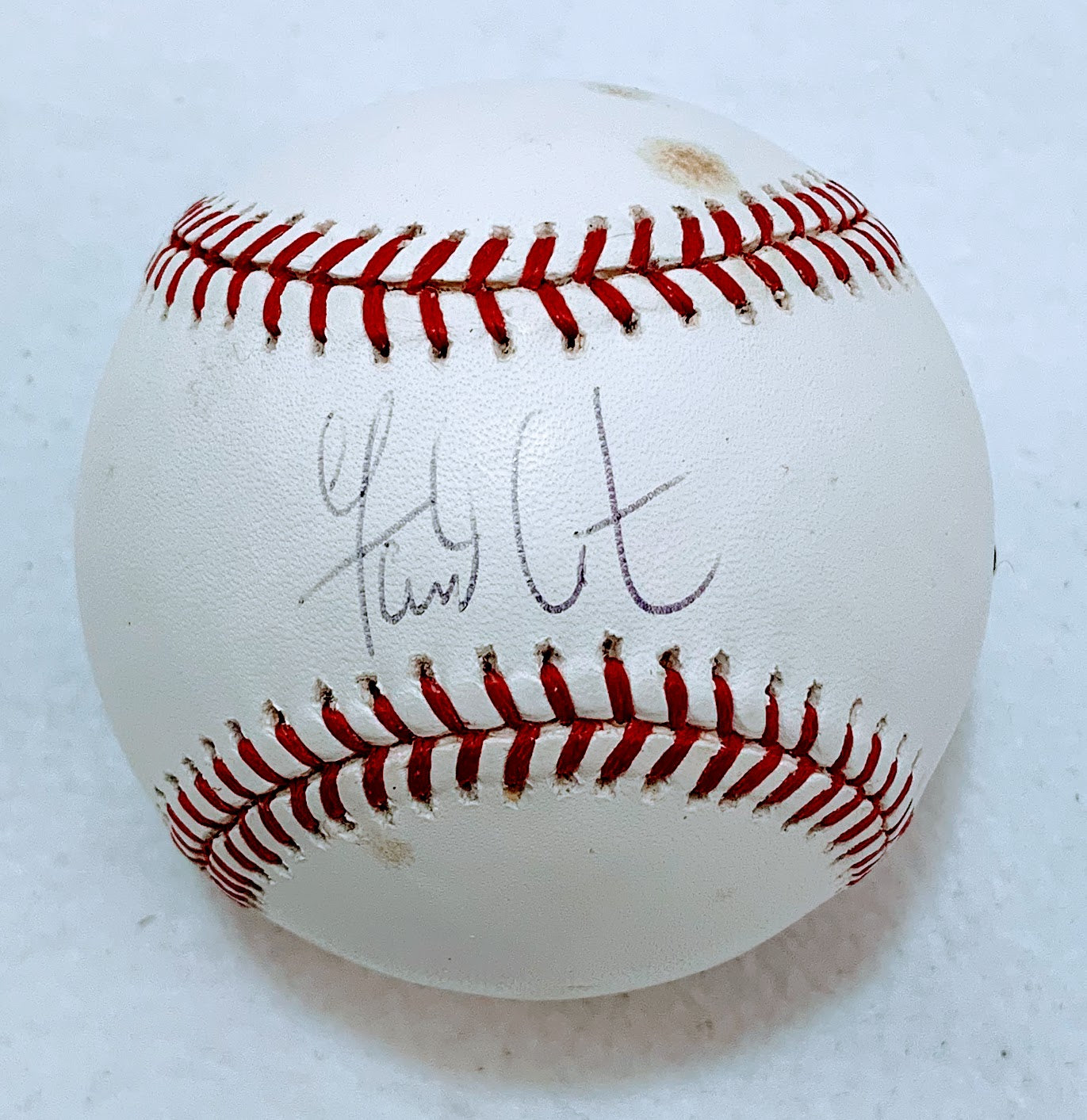 Garrett Atkins Autographed Baseball (Faded Signature and Small Blemishes) - Latitude Sports Marketing