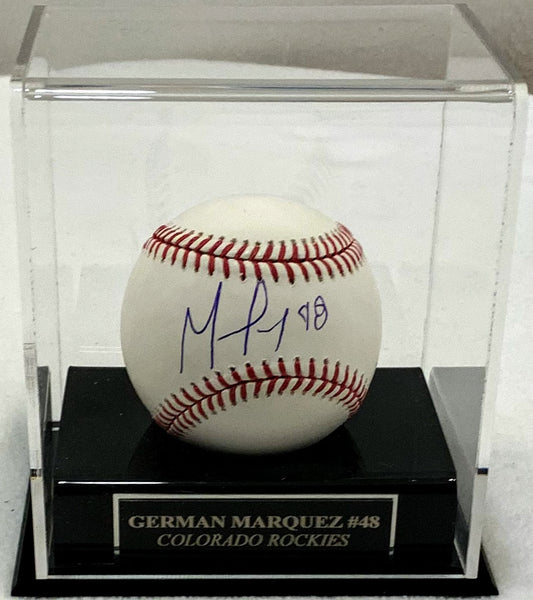 German Márquez Signed MLB Baseball with Case