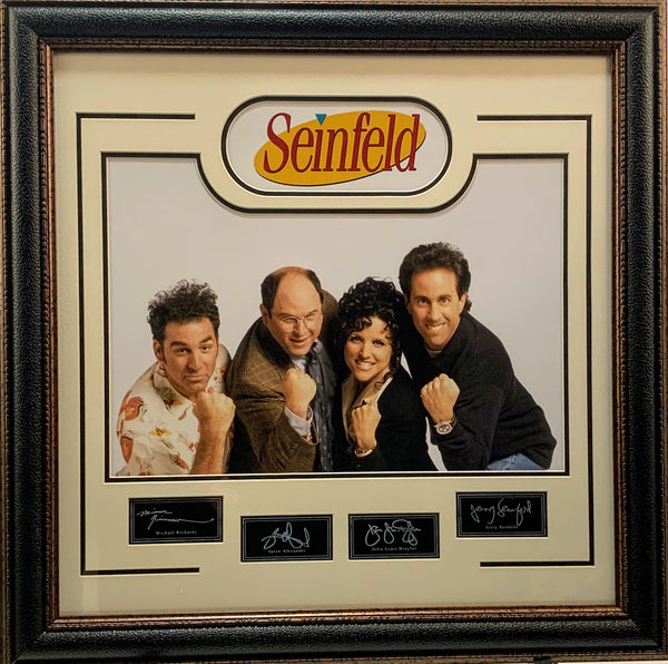 Seinfeld Cast Engraved Framed 20x24 Collage with Laser Signature