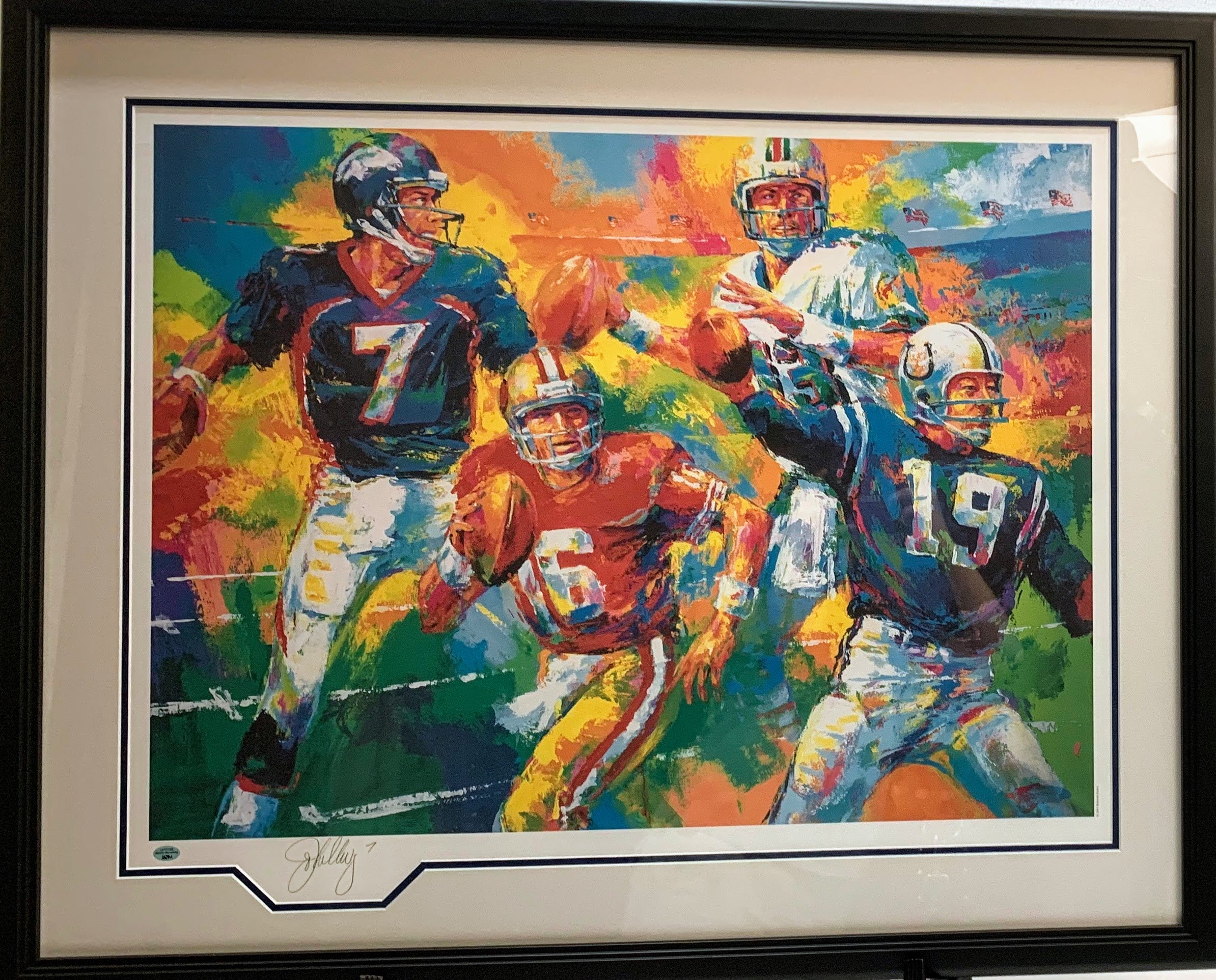 Quarterbacks of the Century Signed by John Elway - Latitude Sports Marketing