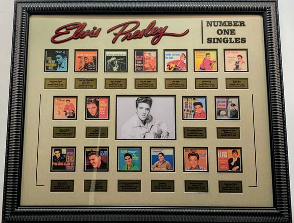 Elvis Presley #1 Hits Mini Record Album Framed Collage
