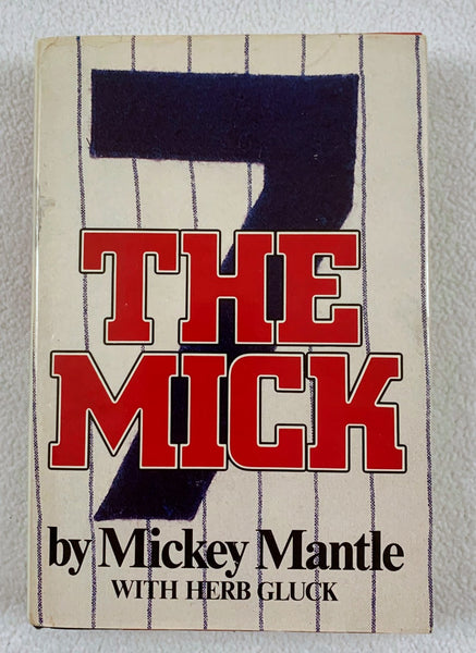"Mickey Mantle Signed Book ""The Mick"" LSM BECKETT COA"