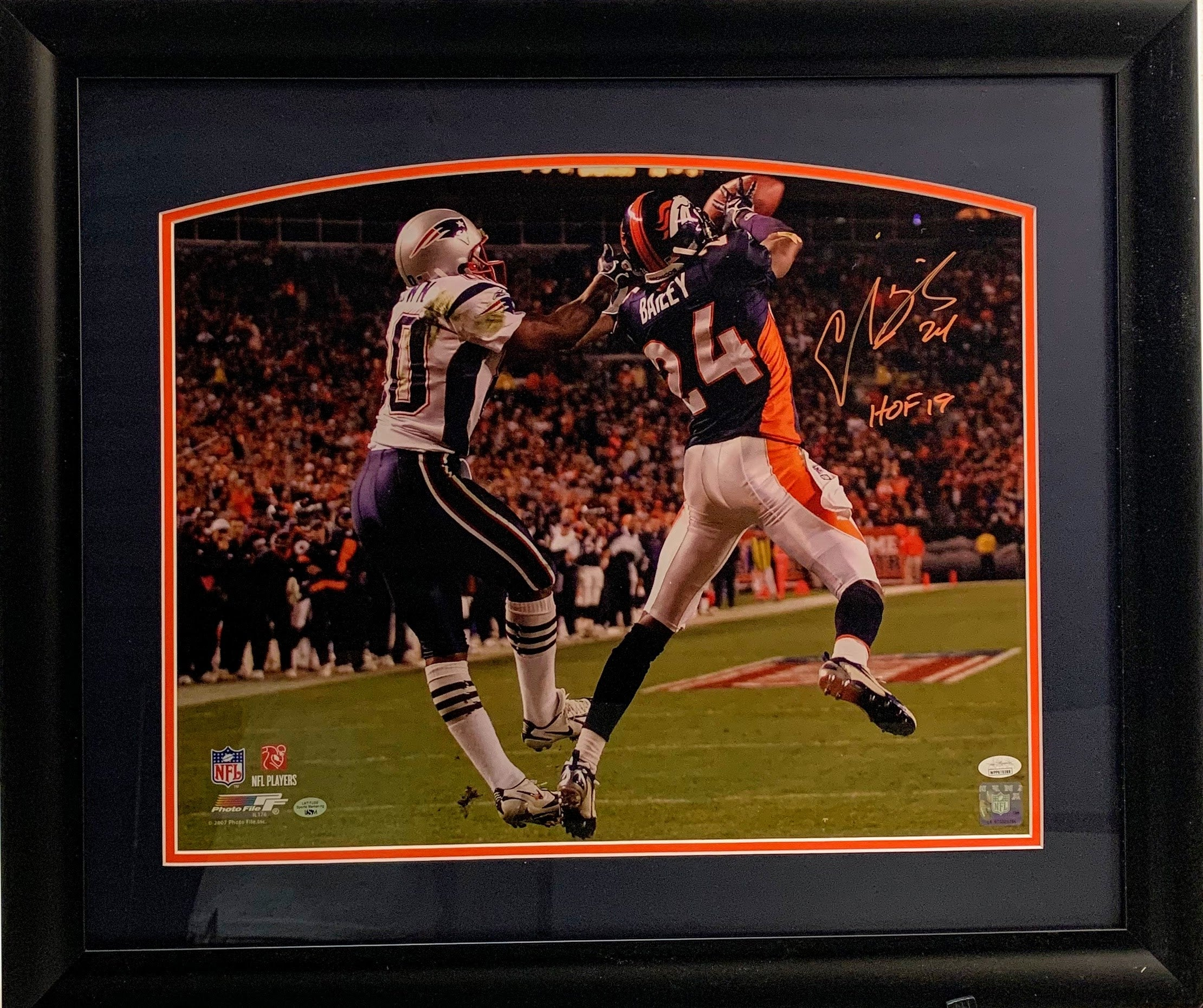 Champ Bailey Signed 16x20 Photo Framed