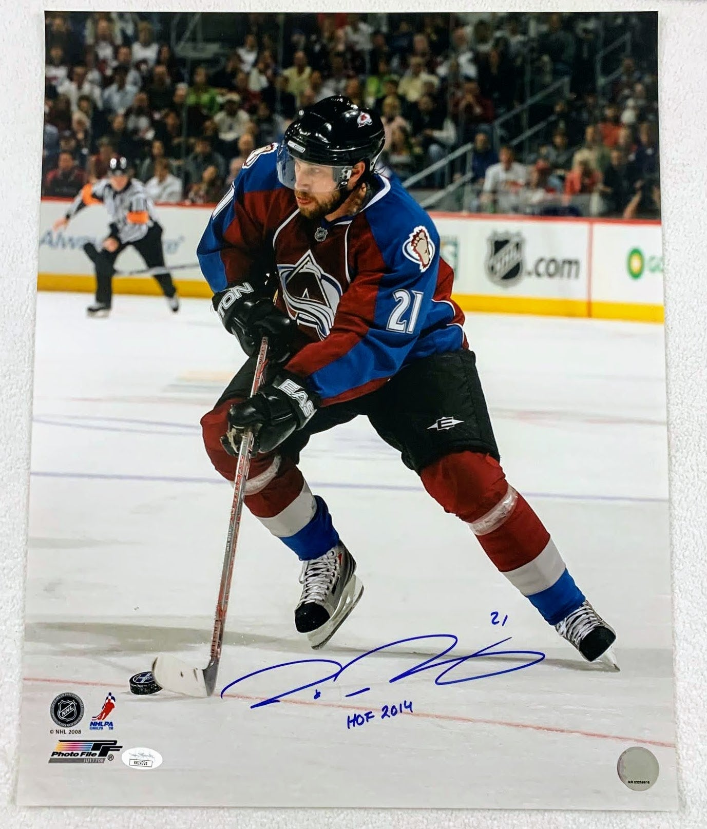 Peter Forsberg Autographed 16x20 Photo w/ HOF Inscription LSM JSA COA