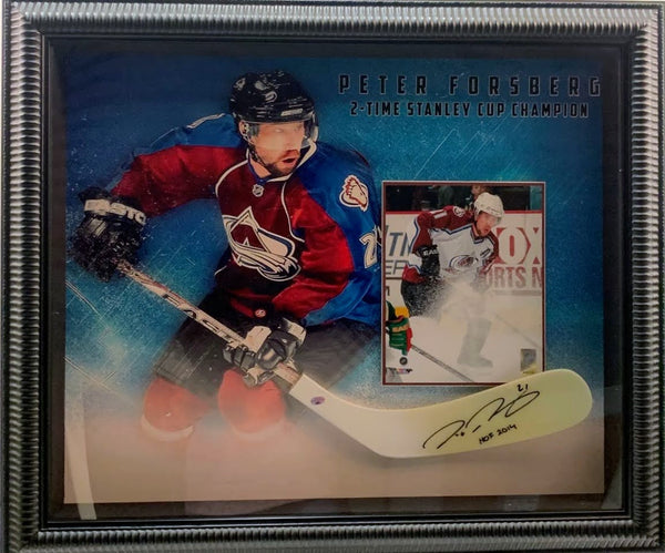 Peter Forsberg Autographed Stick Blade, Photo & Shadowbox LSM COA