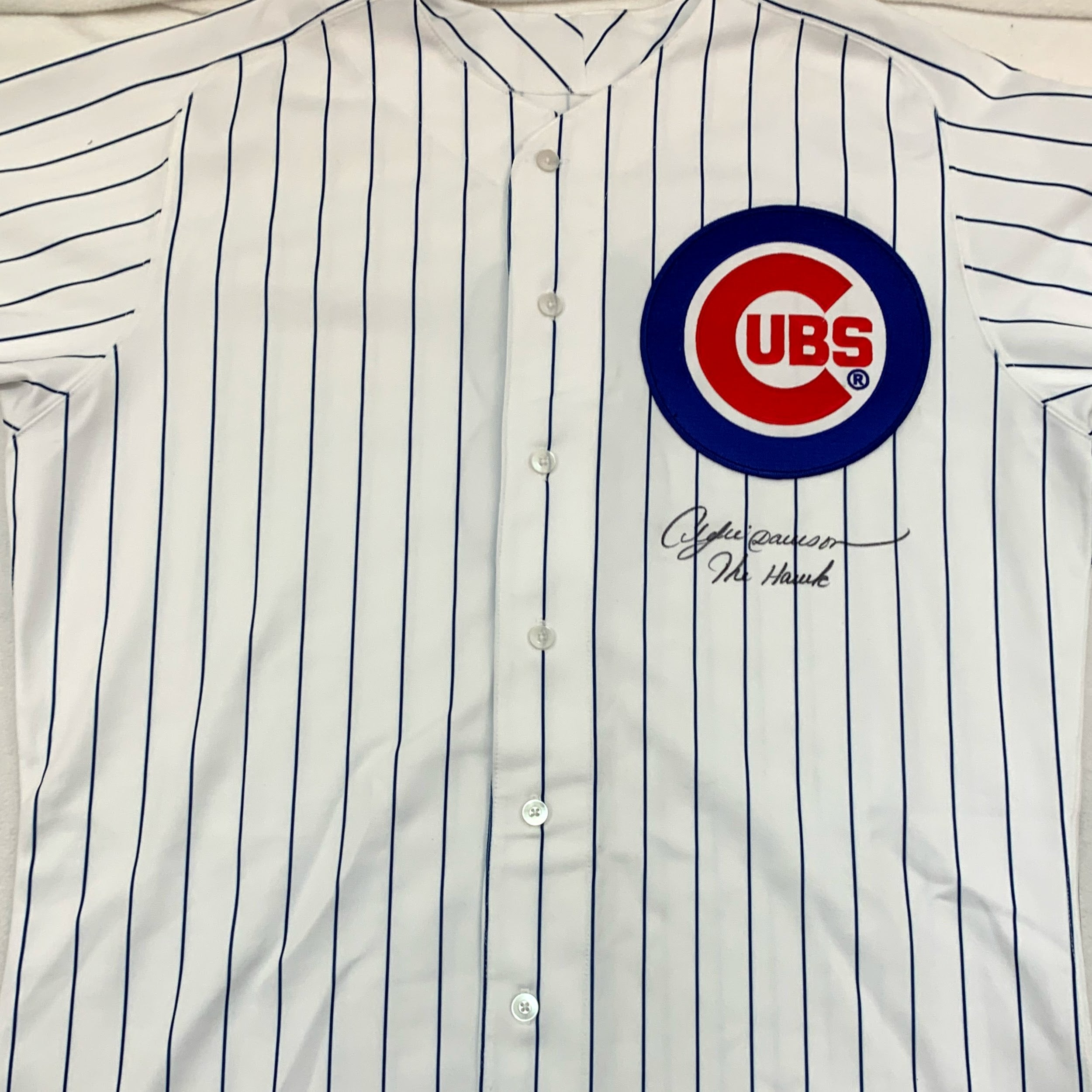 Andre Dawson Autographed Chicago Cubs Jersey - Latitude Sports Marketing