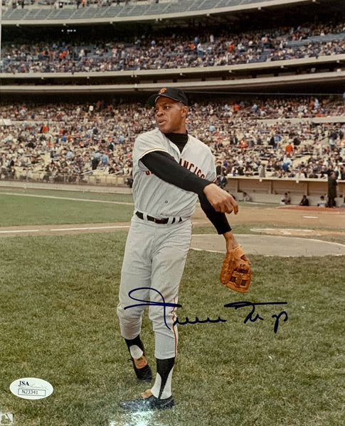 Willie Mays Autographed San Francisco Giants 8x10 Photo
