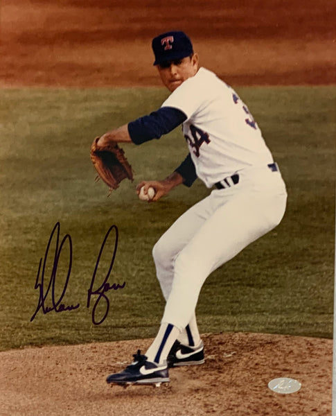 Nolan Ryan Autographed Texas Rangers 8x10 Photo