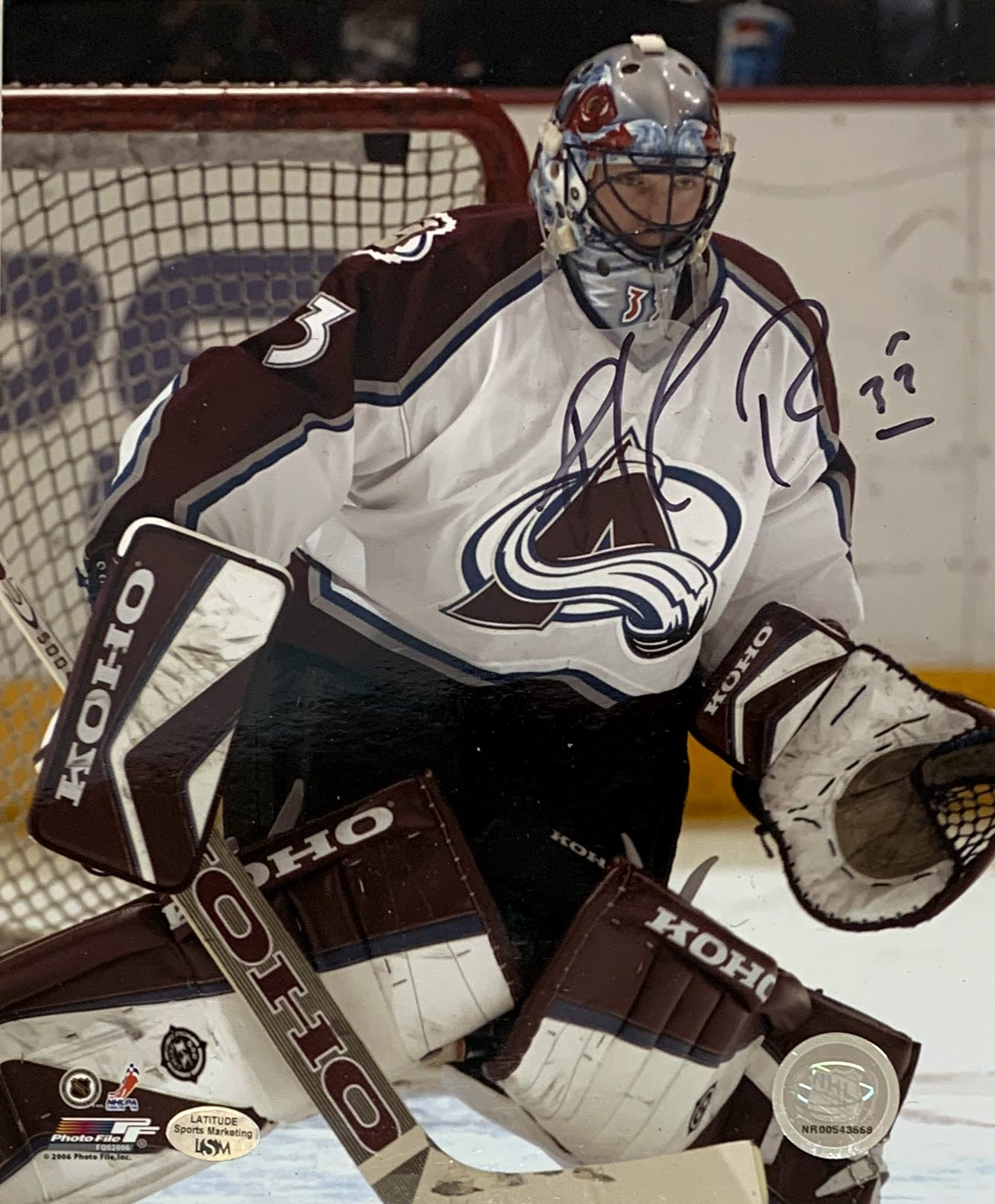 Patrick Roy Autographed Colorado Avalanche 8x10 Photo - Latitude Sports Marketing