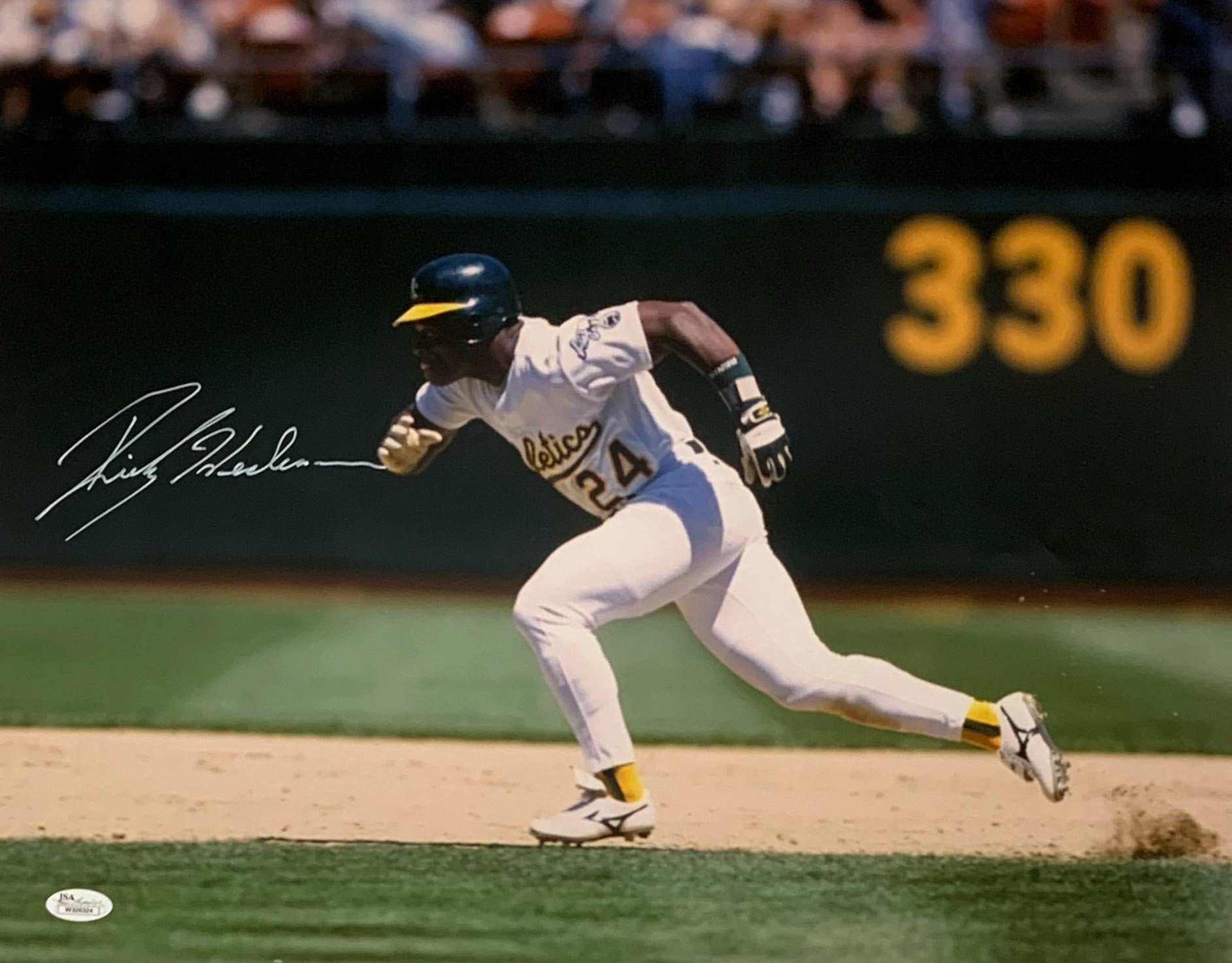 Ricky Henderson Oakland A's Autographed 16x20 Photo - Latitude Sports Marketing