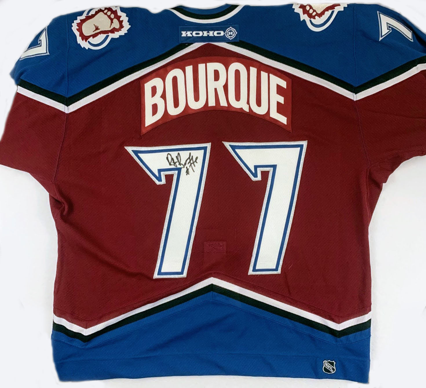 Ray Bourque Authentic Avalanche KOHO Signed Jersey LSM COA