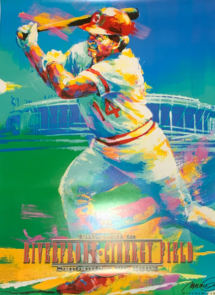 Pete Rose Unsigned Poster by Artist Malcom Farley - Latitude Sports Marketing