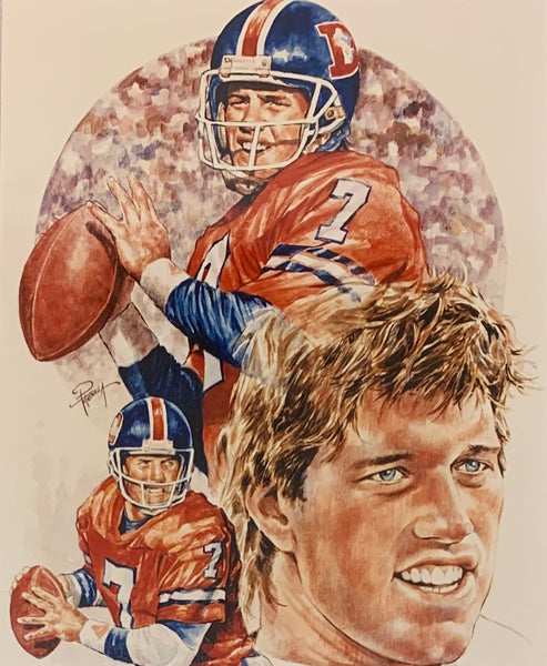 John Elway Unsigned Petronella Denver Broncos Photo
