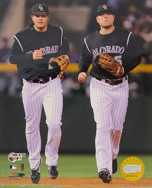 Matt Holliday and Troy Tulowitzki Unsigned Colorado Rockies 8x10 Photo