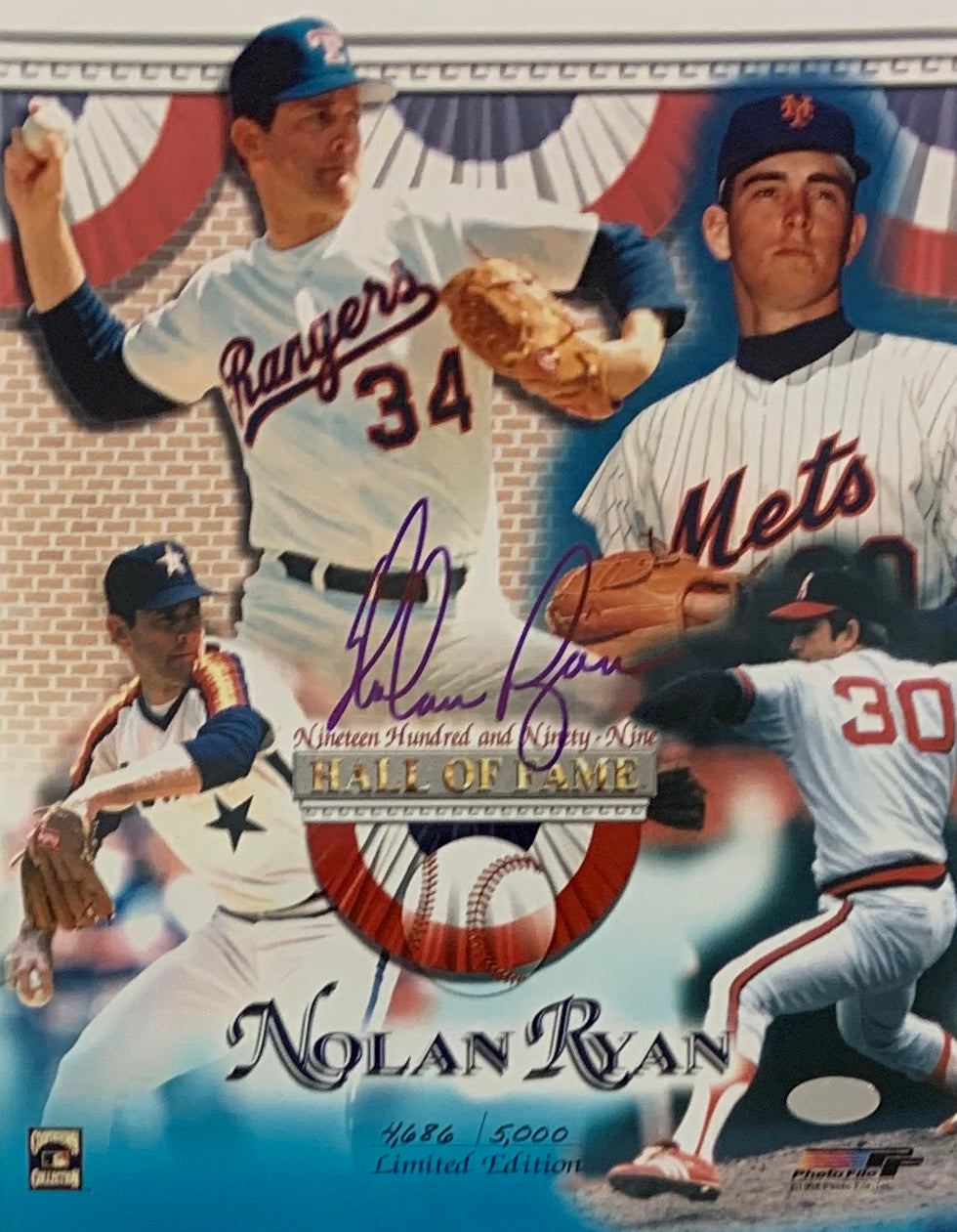 Nolan Ryan Signed 8x10 Photo Limited Edition - Latitude Sports Marketing