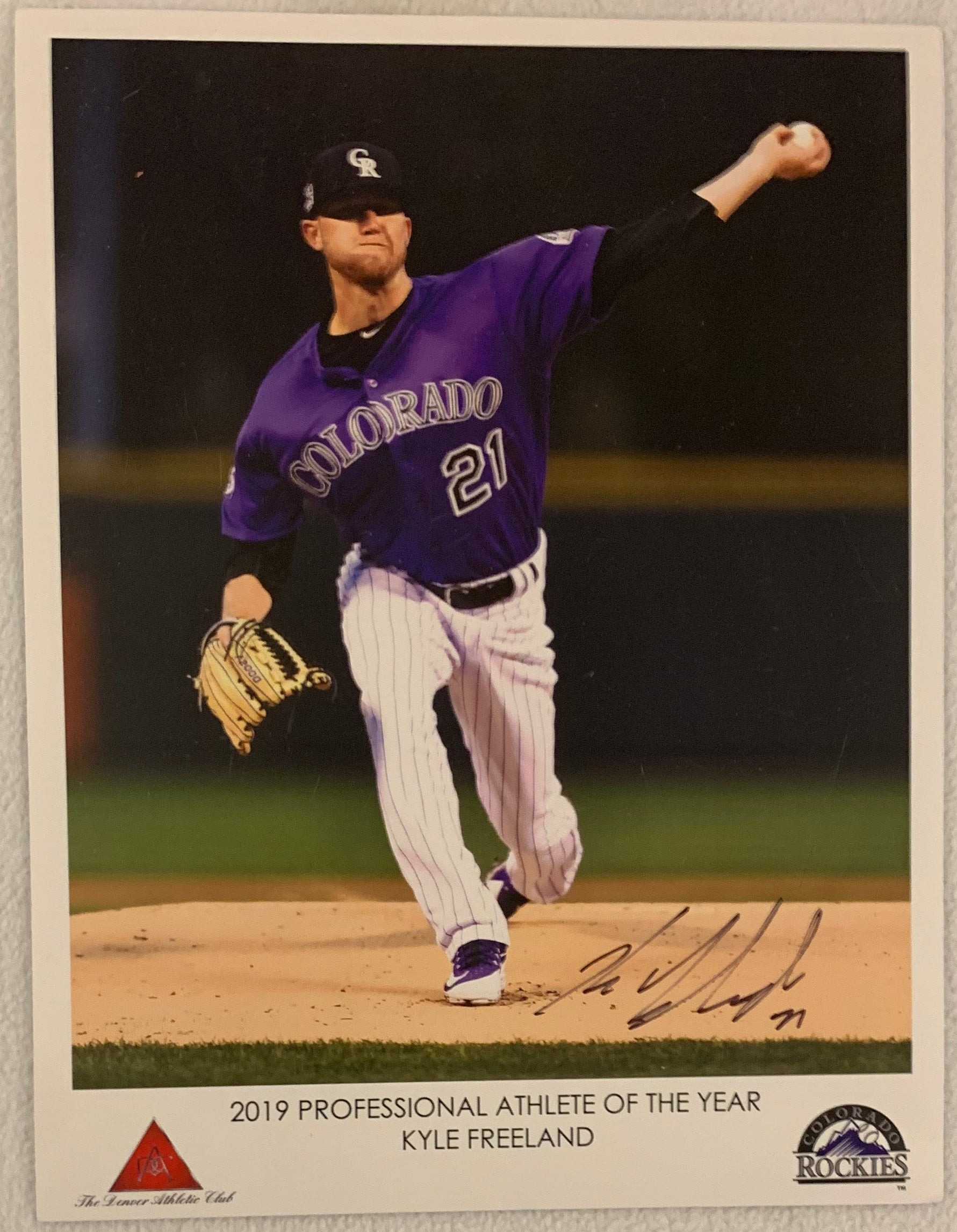 Kyle Freeland Signed 8x10 Photo - Latitude Sports Marketing