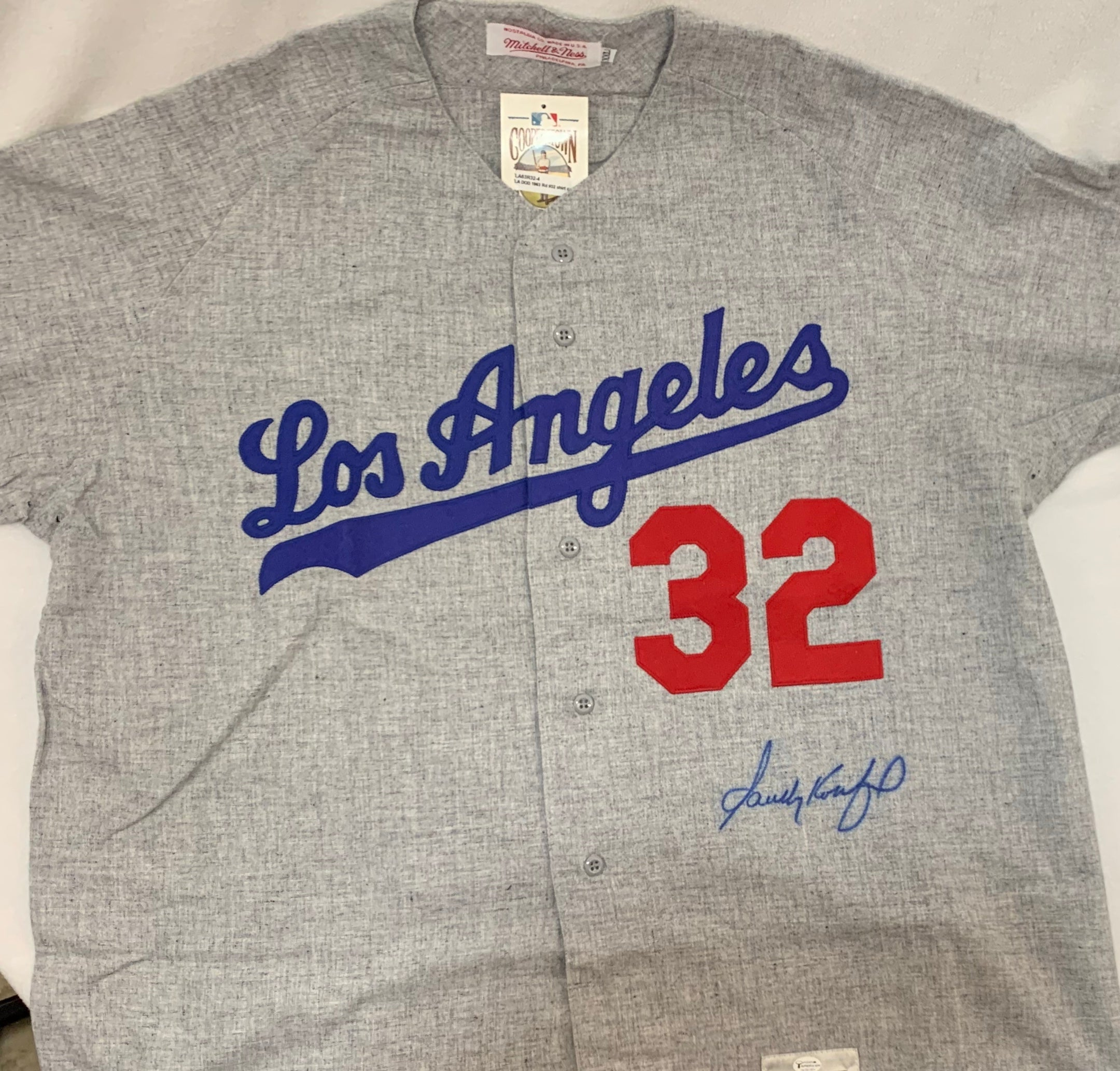 Sandy Koufax Signed Los Angeles Dodgers Jersey - Latitude Sports Marketing
