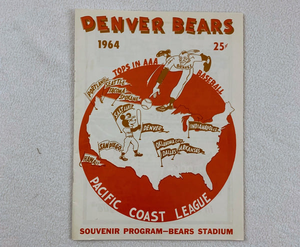 Denver Bears 1964 Pacific Coast League Souvenir Program