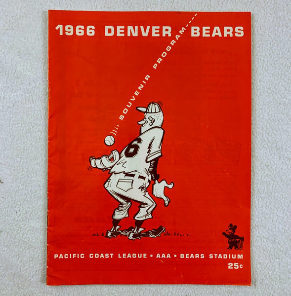 Denver Bears 1966 Pacific Coast League Souvenir Program