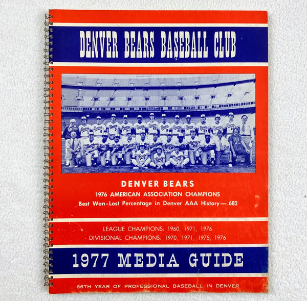 Denver Bears 1977 Baseball Media Guide