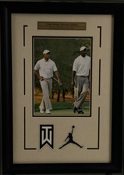 "Tiger Woods & Michael Jordan 8"" X 10"" Deluxe Banner - Latitude Sports Marketing"