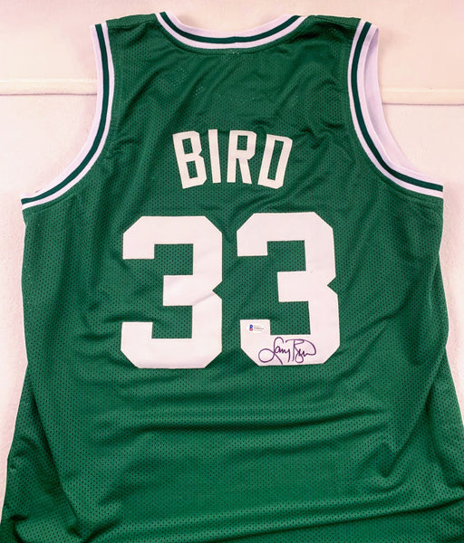 Larry Bird Green Boston Celtics Signed Jersey BECKETT COA