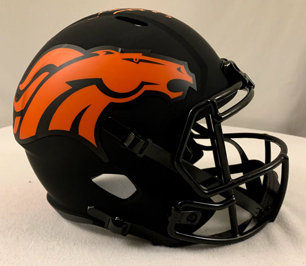 Drew Lock Signed Denver Broncos Eclipse Helmet - Latitude Sports Marketing
