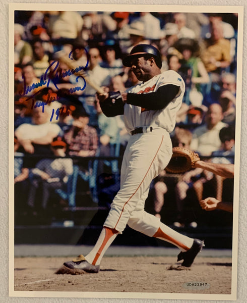 Frank Robinson Signed 8x10 Photo - Latitude Sports Marketing