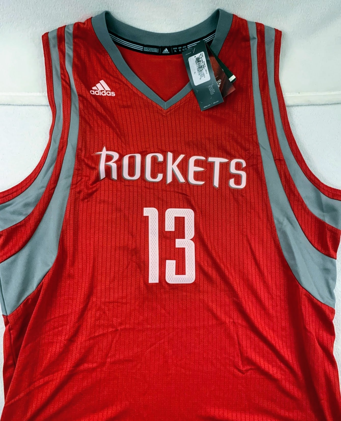 James Harden Red Houston Rockets Adidas Jersey (Size L)