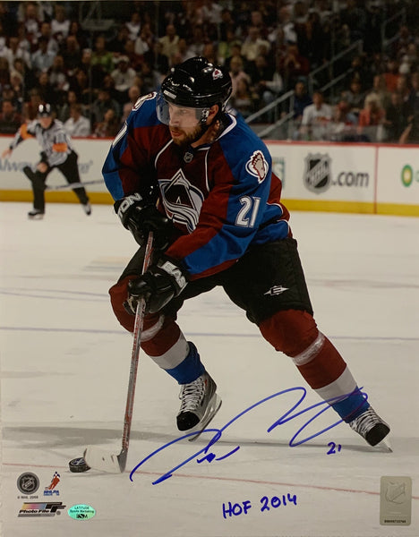 Peter Forsberg Autographed 16x20 Photo w/ HOF Inscription LSM COA