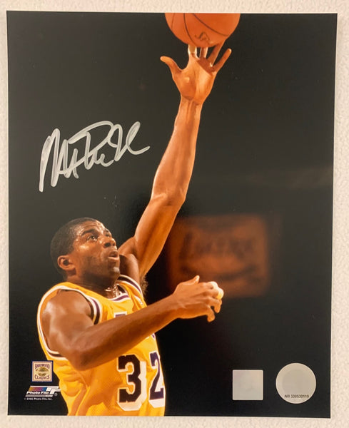 Magic Johnson Signed 8x10 Photo Super Star Greetings COA