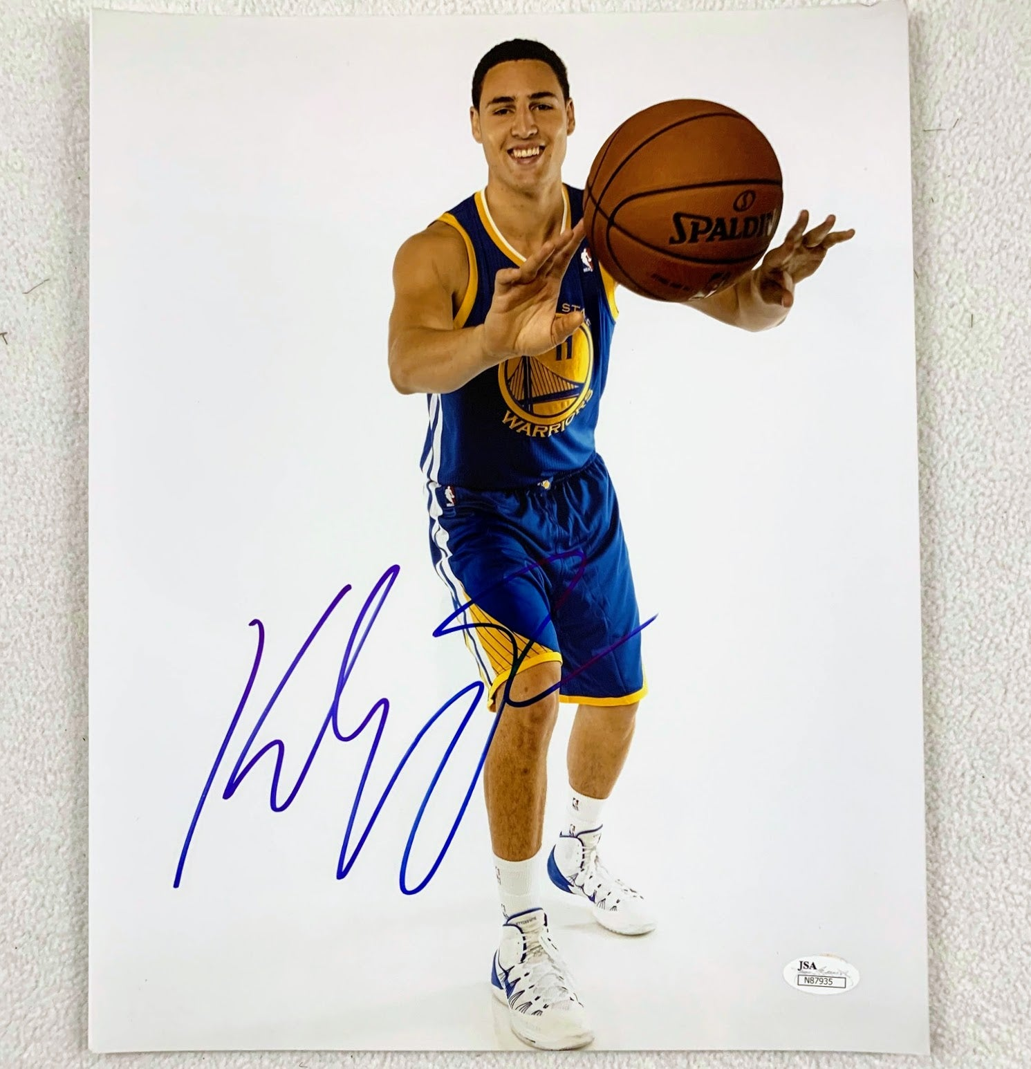Klay Thompson Signed 11x14 Photo JSA COA