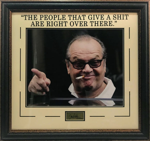 "Jack Nicholson Photo and ""People Who Care"" Quote with Laser Signature"